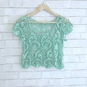 Other - Aqua Crochet Top - size S